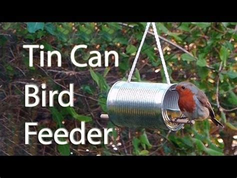 How To Get A Bird Out Of The Garage by How To Make A Tin Can Bird Feeder