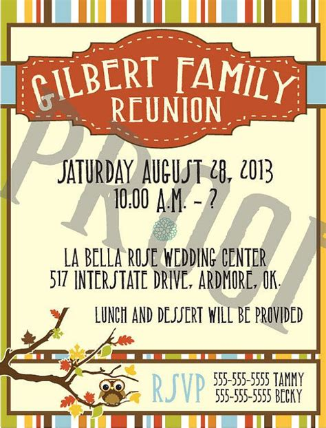 37 Best Family Reunion Invitation Images On Pinterest Family Gatherings Family Meeting And Gathering Invitation Template