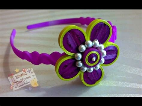 paper quilling tutorial youtube diy how to make paper quilled hair band paper quilling