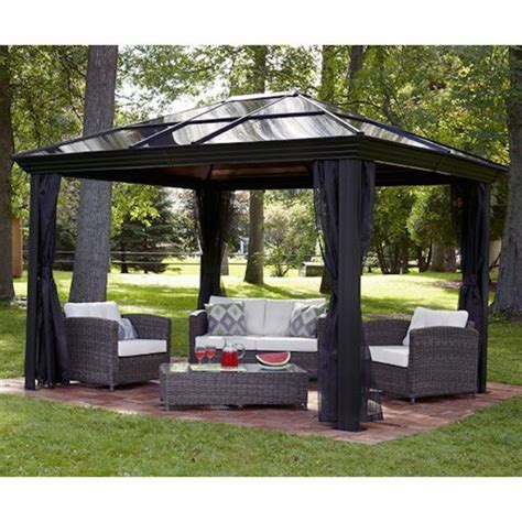 gazebo patio patio gazebos and canopies dc america hexagon gazebo with