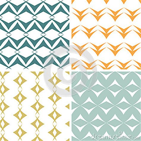 vector pattern matching four abstract arrow shapes seamless patterns set stock