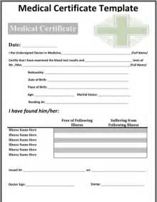 medical certificate sample for excel pdf and word