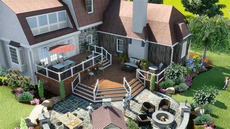 design deck application 3d patio landscape deck design youtube