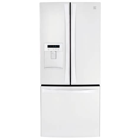 white single door bottom freezer refrigerators sears