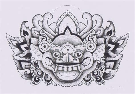 barong ket tattoo barong ket topeng on behance