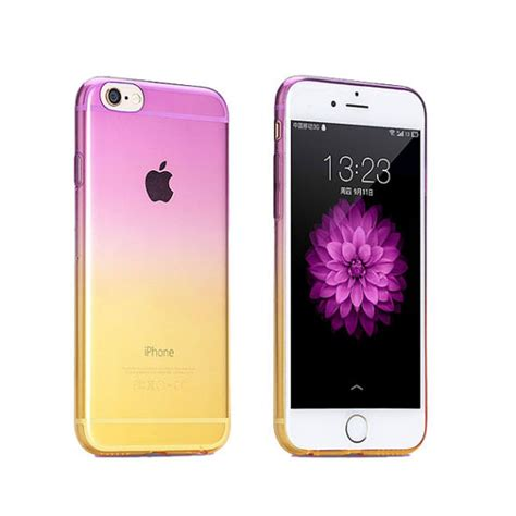 Softcase Violet For Iphone 6s gradient iphone 6s 6 plus se 5s 5 soft clear purple to yellow