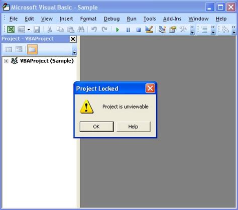 remove vba password in xlsm crack password protected vba project is unviewable