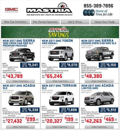 boston shop mastria gmc new car offers