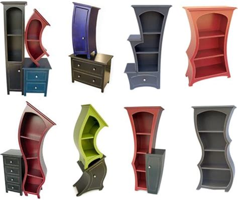 Stepped Bookcase by Surreal Storage Curved Cabinets Dressers Amp Bookcases