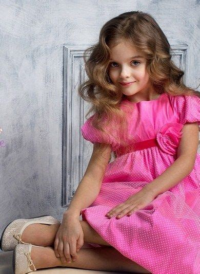 very young little russian girls milana kurnikova russian child model photograph