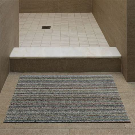 modern doormats skinny stripe shag door mat by chilewich modern