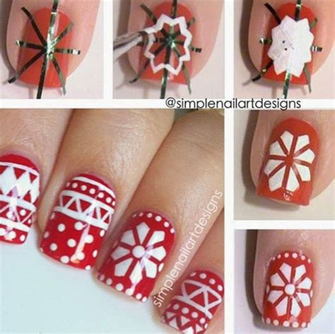 easy nail art for christmas 20 easy simple christmas nail art tutorials for