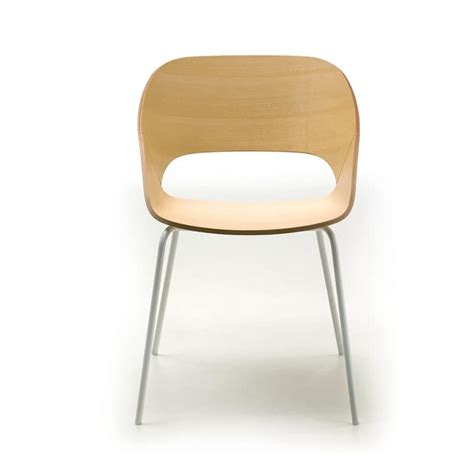chair with metal frame and plywood shell idfdesign