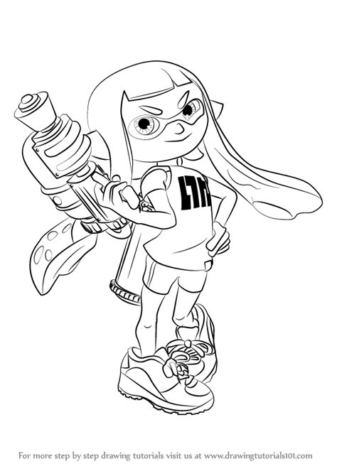 Splatoon 2 Coloring Pages by Learn How To Draw Inkling From Splatoon Splatoon