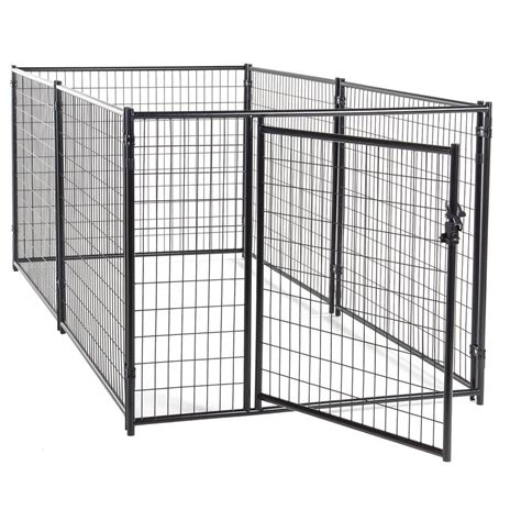 heat l for dog kennel lucky dog 4 ft h x 5 ft w x 10 ft l modular kennel