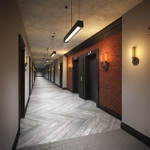Beautifully finished hallways at the harlowe condos in toronto queen