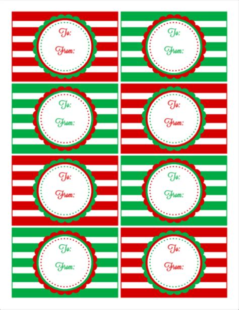 Lovely Christmas Door Hanger Template #4: Gift-Tag-Christmas-Templates-(12).png