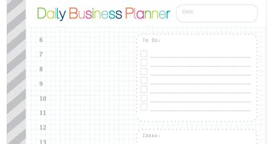free printable business planner pages clean life and home free printable daily business