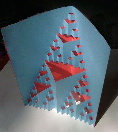 fractal card template triangle fractal cutout make a 3d cutout fractal and turn