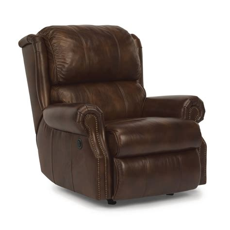 Discount Recliners by Flexsteel 1227 500p Comfort Leather Power Recliner