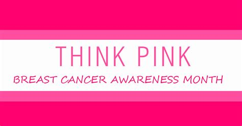 Think Pink For Breast Cancer Awareness Month by October 2016 Salon Marketing Plan
