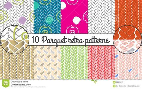 vector pattern set vector seamless pattern set parquet retro background