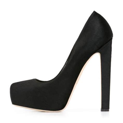 5 inch high heel pumps black suede 5 5 inches high heel platform pumps for