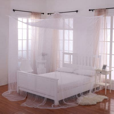 white canopy bed buy majesty white large bed canopy from bed bath beyond