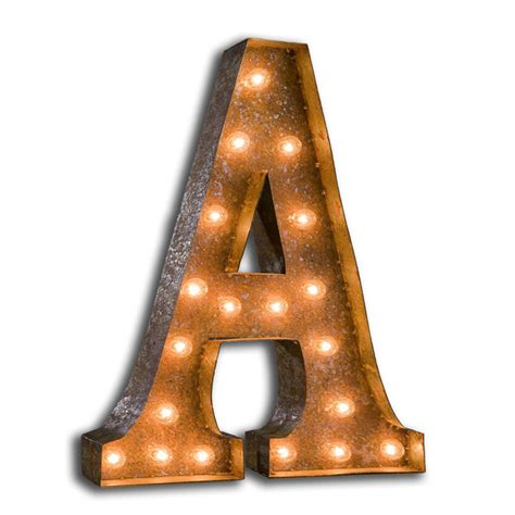 Lighted Marquee Letters by 24 Inch Letter A Marquee Light By Vintage Marquee Lights