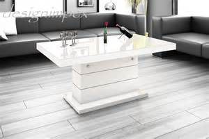 tisch weiß hochglanz ausziehbar couchtische h 246 henverstellbar ausziehbar weiss