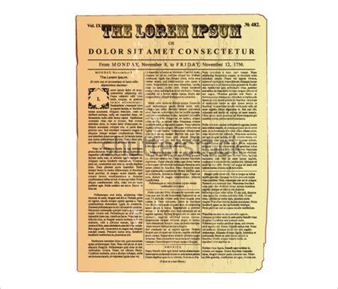 10 best images of vintage newspaper template old