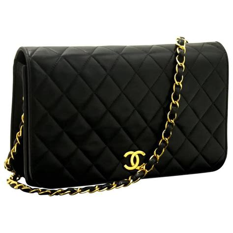 Black Quilted Chain Shoulder Bag by Chanel Chain Shoulder Bag Clutch Black Quilted Flap