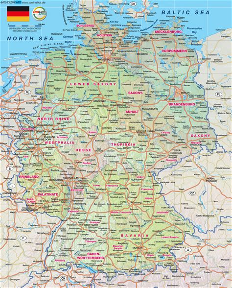road map of germany map of germany map in the atlas of the world world atlas