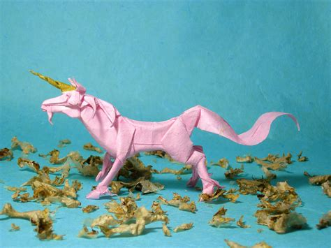 How To Make A Origami Unicorn - unicorn designed by satoshi kamiya folded from 35 35cm