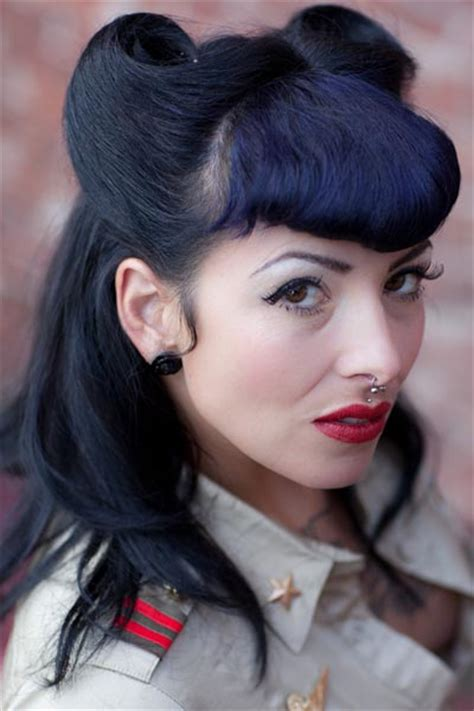 retro hairstyles bangs vintage hairstyles for long hair