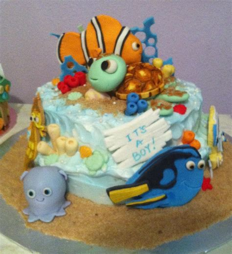 Nemo Baby Shower by Finding Nemo Baby Shower Cake Cakecentral