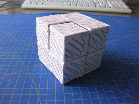 Origami Rubix Cube - cubo rubik 2x2 para ser construido por ni 241 os ikkaro