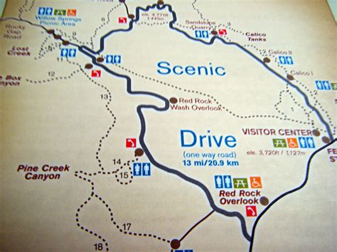 Arizona House by Red Rock Canyon 1 Map Of The 13 Mile Scenic Drive Red