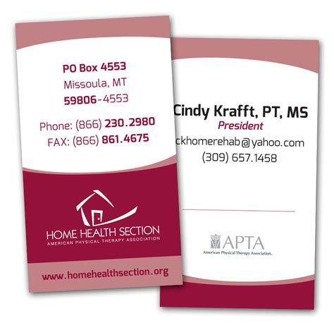 Physical Therapy Business Card Designs