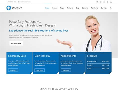 25 Best Health And Medical Wordpress Themes 2019 Athemes Doctor Office Website Template