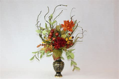 silk flower arrangement unique home decor artificial faux