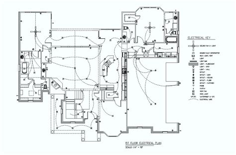 electrical symbols floor plan 1st floor electrical plan elec eng world