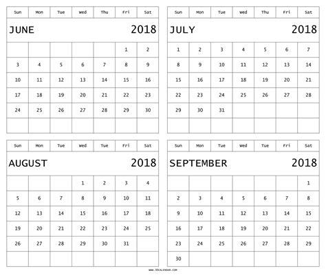 printable calendar june july august 2018 printable calendar june july august september 2018 shoot