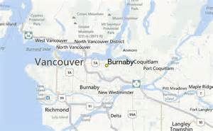 burnaby canada map burnaby weather station record historical weather for