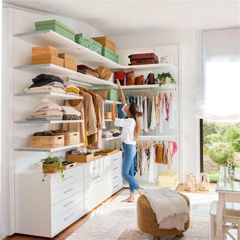 vestidores abiertos  ideas  ordenar la ropa
