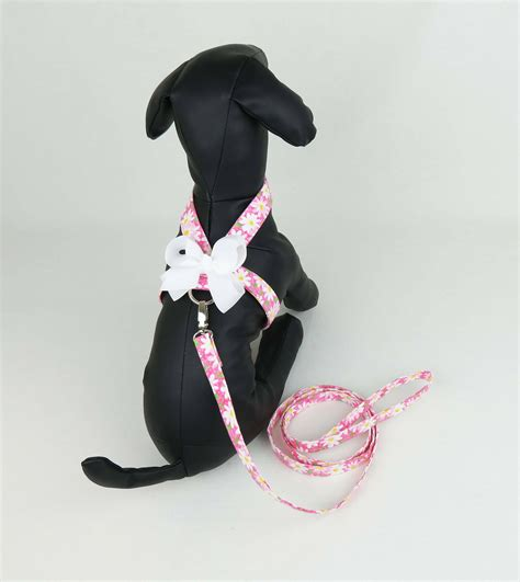 how to put a harness on a yorkie tiny harness with leash pink