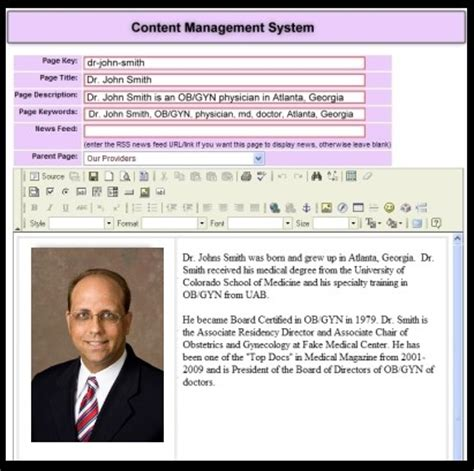 web content management system template download free