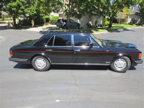 bentley mulsanne black interior 1988 bentley mulsanne s black w interior wood trim