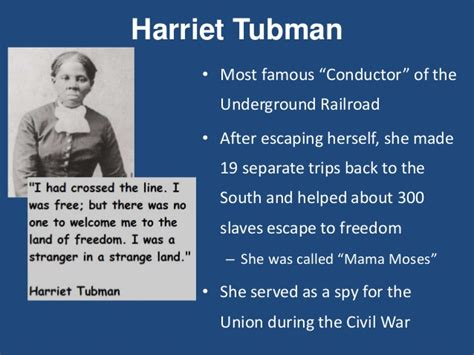 harriet tubman biography ppt hw 26 abolition movement ppt