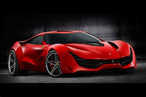 newest ferrari futuristic ferrari cascorosso looks the real deal gtspirit